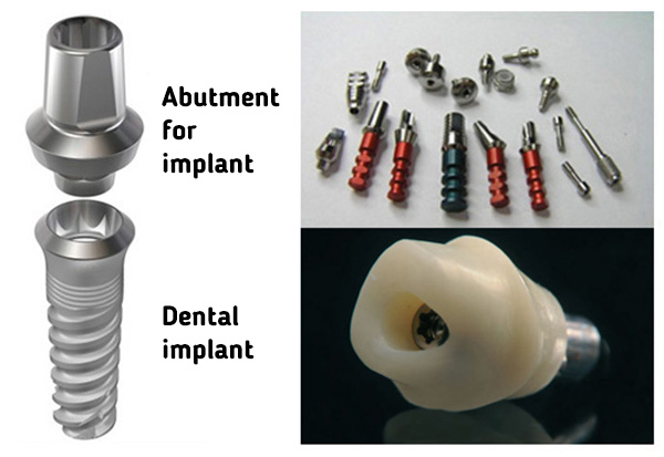Abutments for implants
